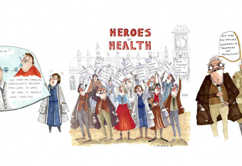 Heroes of Health comic book | MRC LMS exhibit at Science Museum Lates