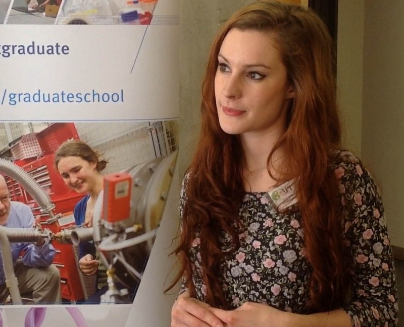 Charlotte Mykura competes in Three Minute Thesis Competition