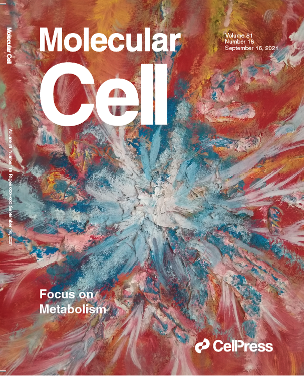 Front cover of Molecular Cell featuring oil painting by Manfred Lennicke